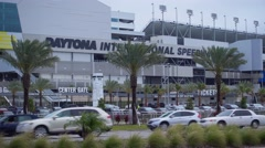 Daytona International Speedway Race track Stock Footage