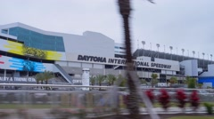 Driving by Daytona International Speedway Stock Footage