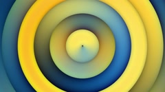 Looping Background Animation Blue Yellow Concentric Circles Stock Footage