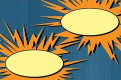 Comic book dialogue bubbles explosion pop art Stock Illustration