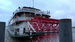 The famous paddle steamer on Mississippi River Stock Footage
