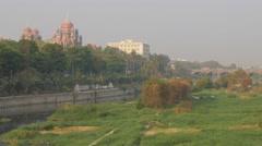 High Court on Musi river,Hyderabad,India Stock Footage