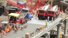 Bridge construction Grand Maket Stock Footage