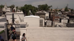 Famous Cemetery No. 1 in New Orleans Stock Footage