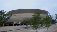 Mercedes Benz Superdome in New Orleans Stock Footage