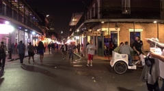 Clubs and bars at Bourbon Street French Quarter New Orleans Stock Footage