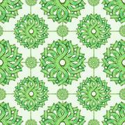 Vintage Baroque Seamless Floral Pattern Stock Illustration