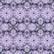Stylized Floral Mosaic Seamless Pattern Stock Illustration