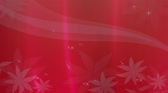 Wedding Motion Loopable Background 072, Red Flowers moving bg Stock Footage