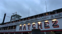 The famous paddle steamer on Mississippi River - stock footage