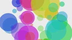 Colorfull balls rotation Stock Footage
