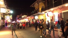 Big Party every night at Bourbon Street French Quarter New Orleans Stock Footage