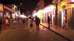 Party mile Bourbon Street French Quarter New Orleans Stock Footage