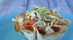 Mexican chicken salad Stock Footage