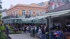 The Market Cafe at French Market New Orleans Stock Footage