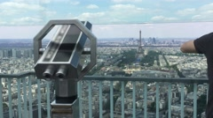 Montparnasse Tower Panoramic Observation Deck In Paris, 4k Stock Footage