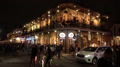 Amazing French Quarter New Orleans at night Stock Footage