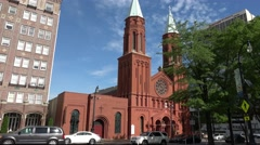 The Basilica of the Sacred Heart Of Jesus in Atlanta Stock Footage