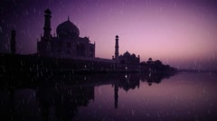 Wedding Motion Loopable Background 071, Tajmahal at evening Stock Footage