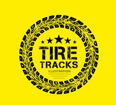 Tire tracks vector Stock Illustration