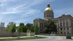 Atlanta Capitol with golden dome Stock Footage