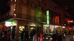Party every night at Bourbon Street French Quarter New Orleans Stock Footage