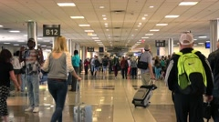 Concourses at New Orleans International Airport Stock Footage