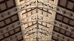 Ceiling of Mercado Central Market valencia  spain Stock Footage
