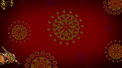 Indian Wedding Motion Loopable Background 064, Red moving BG with Drums - stock footage