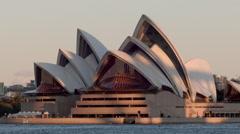 Sydney Opera House Evening Time Lapse Stock Footage