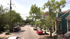 Driving through Magazine street in New Orleans Stock Footage