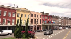 Decatur street at New Orleans French Quarter Stock Footage