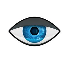 Tired eye icon. View and look design. Vector graphic - stock illustration