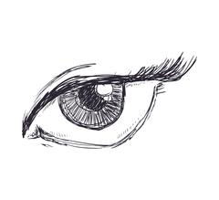 Female eye icon. View and look design. Vector graphic Stock Illustration