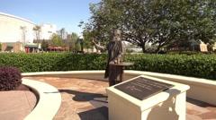 John S Pemberton statue - founder of Coca Cola at Coca-Cola World Atlanta Stock Footage