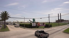 Welcome to Mardi Gras World in New Orleans Stock Footage