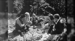 Hippies People Love In Smoke Marijuana Picnic 1960s Vintage Film Home Movie 9758 Stock Footage