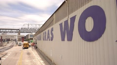 Famous Mardi Gras World in New Orleans Stock Footage