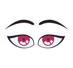 Surprised cartoon eye icon. View and expression design. Vector g Stock Illustration