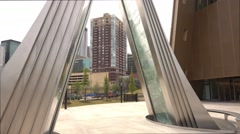 Modern Fountain at Center for Civil and Human Rights Atlanta Stock Footage
