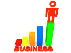 Business Achievement Stock Illustration