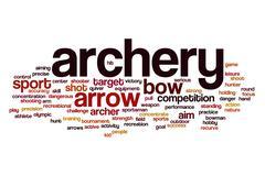 Archery word cloud concept Stock Illustration