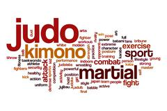 Judo word cloud concept Stock Illustration