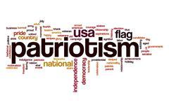 Patriotism word cloud concept Stock Illustration