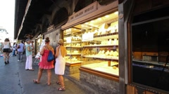 Luxury Shop windows in Florence, Tuscany Italy Stock Footage