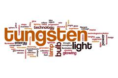 Tungsten word cloud concept Stock Illustration