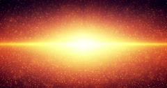 Infinite space looped background. Abstract fiery orange sun shine. Stock Footage