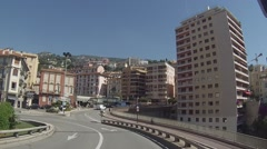 Streets of the Principality of Monaco Stock Footage