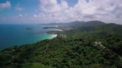 Ascending Aerial Drone Shot of Kata and Karon Beaches in Phuket Thailand Stock Footage