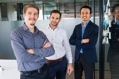 Portrait of Three Businessmen in Office 2 Stock Photos